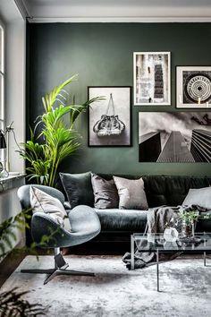 New Living Room Scandinavian Cozy Gray Ideas Living Room Green, Living Room Paint, Living Room Colors, Cozy Living Rooms, New Living Room, Living Room Modern, Living Room Sofa, Living Room Designs, Living Room Decor