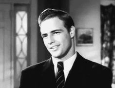 "This man was waaayy too good looking back then....Lordy! Marlon Brando's screen test in ""Rebel Without A Cause"" (1955)."