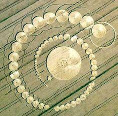 círculo de la cosecha apareció en Fabbrico, Italia - Los círculos en los cultivos, círculos en las cosechas, círculos en el pasto o agroglifos son dibujos que aparecen en campos de cultivo (de trigo, maíz, etc.).