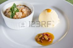 #Pieplant #Cobbler With #Vanilla #Icecream @123RF #123rf #Food #delicious #Sweets #Desserts #homemade #selfmade #carinthia #Austria #stock #photo #new #download #Portfolio #highres