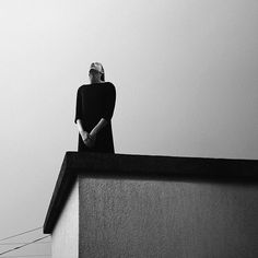 Melancholic visual art by Noell Oszvald based on black and whith photography.