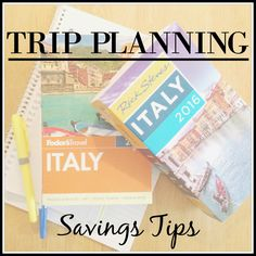 "Welcome to another edition of ""Trip Planning""!   I love researching and planning trips and thought it would be fun to share some of my favorite resources and tips as I plan a trip to Italy for Jaso..."