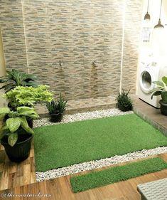 Home Garden Design, Interior Garden, Home And Garden, House Design, Diy Patio, Backyard Patio, Patio Ideas, Garden Ideas, Apartment Bathroom Design