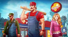 The Super Mario Brothers - Grand Theft Auto Characters