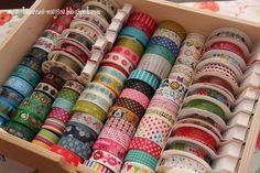 craft collection, craft tapes, przechowywanie przydasi, przechowywanie taśm, przydasie, taśmy dekoracyjne, washi tape, washi tape storage