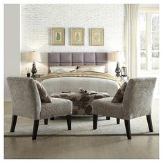 Garvey Upholstered Bed - Grey (Full)