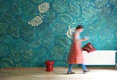 Individuelle Wandgestaltung: Projekte | Atelier Wandlungen Murals Street Art, Berlin, Ornament, New Homes, Decor Ideas, Interiors, Wall Art, House Styles, Wallpaper