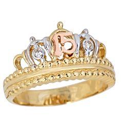 ANILLOS PARA QUINCEAÑERA       Anillos para esa señorita que esta entrando a la… Dog Jewelry, Cute Jewelry, Jewelry Rings, 15 Rings, Cute Rings, Tiara Ring, Biker Rings, Queen, Gemstones