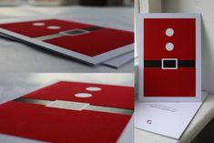 Graphiklounge Weihnachtskarte:  DIN A5 3lagig Digitaldruck Heißfolie Farbschnitt Silber rote Beflockung