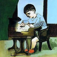 Picasso  Paul dessinant 1923