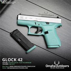 Glock 42 G42 Tiffany Blue 380 ACP Mint Teal NEW : Semi Auto Pistols at GunBroker.com