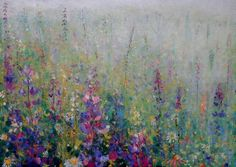 Lupins by Kirstin Handley -