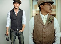 Casual grooms...the one on the left is perfect!