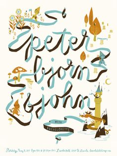 Super fabulous silkscreen printed Peter. Bjorn & John poster by our crazy talented friend Anne Benjamin / MokDuk.