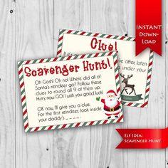 WELCOME! Oh Gosh! Oh no! Where did Santas Reindeer go? Your children will love this magical elf activity! Theyll follow the clues to collect all of Santas reindeer and win a reward as a treat! Rhyming scavenger hunt, with two editable templates to modify the game as you see fit. Personalize two Christmas Tree Toy, Christmas Gift Tags, Perfect Christmas Gifts, Kids Christmas, Reindeer Christmas, Christmas Games, Christmas Birthday, Christmas Decorations, Etsy Christmas