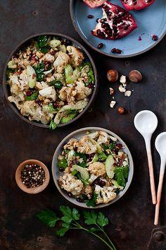Roasted Cauliflower and Hazelnut Salad