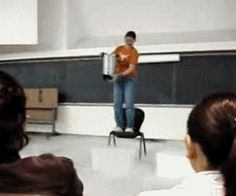 [GIF] Chemistry teacher goes KA-BOOM! I bet that was a b***h to clean up. (via Scientific Visuals)
