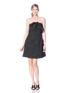Thakoon Women's Trapunto Cross-Front Halter Dress