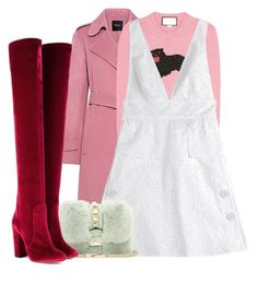 """Pinky."" by siilvia ❤ liked on Polyvore featuring Theory, Gucci, Valentino and Aquazzura"