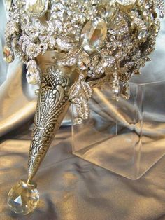 "Deposit listing for the ""Annemarie"" custom brooch bouquet made to your specifications. $487.50, via Etsy."