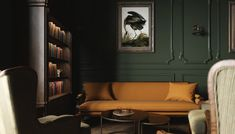 Speakeasy Lounge - Anthology Creative Studio Boudoir, Sofa, Couch, Creative Studio, Lounge, Dark Rooms, Furniture, Decor Ideas, Design