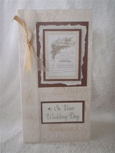 handmade wedding card idea