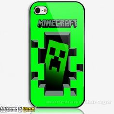 minecraft Creeper Monster Rave 3D Game Custom iPhone 5 Hard Case Cover