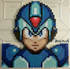 Mega Man X perler beads by PerlerPixie