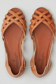 American Eagle Outfitters AE Strappy Open Toe Flat #flats