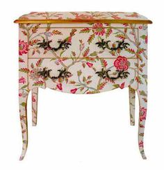 painted furniture ideas   ... floral patterns for retro decor, vintage furniture painting ideas