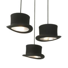 Abraham Lincoln used one to stash vital letters, your hipster friend uses one to look cool, but you?—you use a top hat to shed some light into a room. An 18th-century invention takes on 21st-century lighting in the clever Wooster, a hanging ceiling light composed of a wool felt top hat lined with silver anodized aluminum.