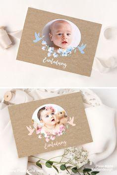 Zur Taufe oder Namensweihe Ihres kleinen Sonnenscheins fertigen wir individuelle Einladungskarten. Unsere Serie Anna und Aaron mit Kirschblüten und Tauben ist in zwei Farben erhältlich. by www.Pixel-Kiste.com #Taufeinladungen #Einladungen #Einladungskarten #Taufe #Namensweihe #Baby #Tauffeier #Papeterie #Taufkarten #Geburt #Taufvorbereitung #kirschblüten #Taufen #PixelKiste #PixelKisteKartendesign Anna, Frame, Baby, Home Decor, Paper Mill, Baptism Party, Baptisms, Invitation Text, Kraft Paper
