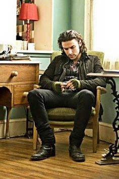 "Mitchell from the TV programme ""Being Human"" portrayed by Aidan Turner Aidan Turner Poldark, Ross Poldark, Being Human Bbc, Gorgeous Men, Beautiful People, Aiden Turner, Bae, Raining Men, Irish Men"