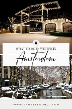 One of the most frequently asked questions by travelers is whether visiting Amsterdam in winter is worth it. Many people wonder if the weather will be too cold and if there are things to do in the winter, however, I would love to clear up all your concerns right now and tell you that winter in Amsterdam is beautiful and a great time to visit the city! #Travel #Amsterdam Amsterdam Winter, Visit Amsterdam, Amsterdam Travel, Amsterdam Itinerary, Amsterdam City Guide, Stuff To Do, Things To Do, See World, Winter Months