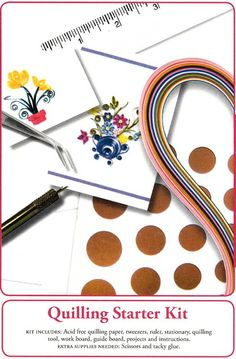 Paplin Quilling Starter Kit @ Custom Quilling Supplies This starter kit is the perfect collection of everything you need to start your adventure in quilling. Whether you are a beginner or pro you will find it in this handy kit with the addition of glue and scissors you'll be quilling in no time! $29.99