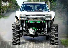 llifted Chevrolet truck - Monster or Mudder Chevy Pickup Trucks, Lifted Cars, Lifted Chevy Trucks, Gm Trucks, Jeep Truck, Chevrolet Trucks, Diesel Trucks, Cool Trucks, Chevy 4x4