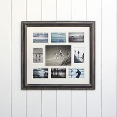 Distressed Black Multi Picture Frame
