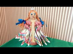 Кукла — подставка под салфетки, плетеная из газетных трубочек. МК | oblacco
