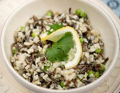 Meatless Monday: Wild Rice Pilaf with peas, lemon zest and tarragon.