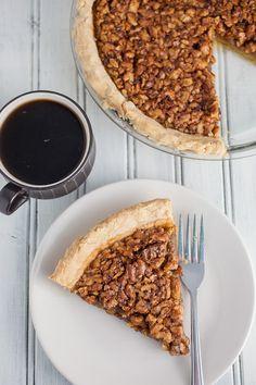 Maple Bourbon Walnut Pie