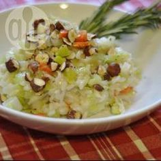 Recipe photo: Leek and hazelnut risotto