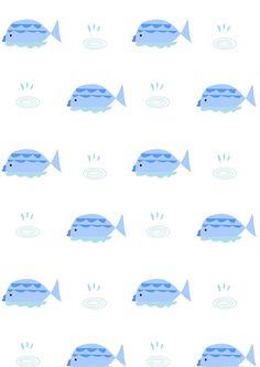 FREE printable baby fish pattern paper | #nurserypattern