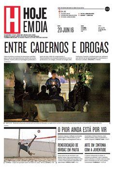 Capa do dia 20/06/2016 #HojeEmDia #Jornal #Notícias #News #Newspaper