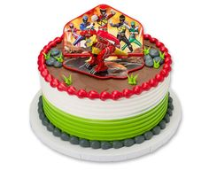 Power Rangers Dino Charge Red Zord Cake Topper Decoration