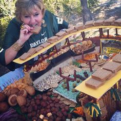 WOW. A #tailgate feast in the shape of the new #Baylor Stadium. (via @bayloruniversity on Instagram)