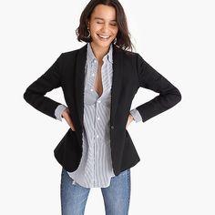 J.Crew: Parke Blazer In Wool Flannel For Women