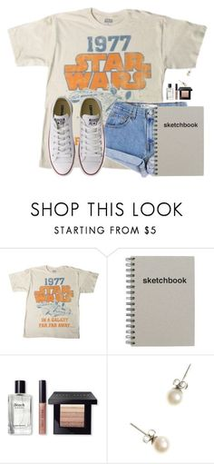 """When I say B you say Asic"" by flroasburn on Polyvore featuring Levi's, Bobbi Brown Cosmetics, J.Crew and Converse"