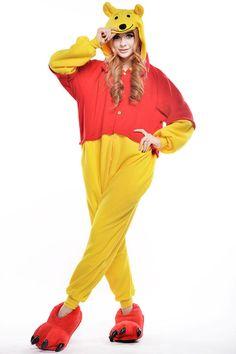 58821604dc Unisex Adult Winnie The Pooh Flannel 1 Cosplay Costume Kigurumi Pajama  Sleepwear Pooh Flannel
