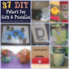 Father's Day is one of my favorite holidays. I loved making gifts for my own dad & with my kids for my husband. Here are 37 DIY Father's Day gifts for you!!