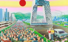 British pair recruit North Koreans to paint Beijing as a socialist utopia